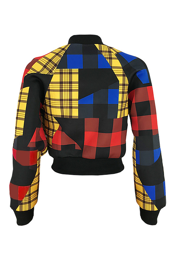 Lovely Euramerican Long Sleeves Multicolor Jacket
