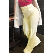 Lovely Euramerican Loose Yellowish Rice Pants