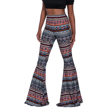 Lovely Euramerican Printed Flared Multicolor Pants