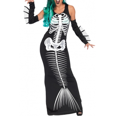 Lovely Euramerican Animal Skull Halloween Multicolor Cosplay Costumes