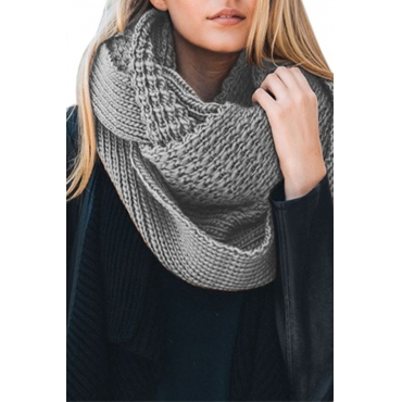 Lovely  Euramerican Chunky Grey Knitting Scarves