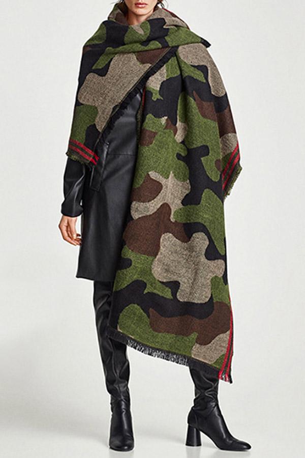 Lovely Trendy Camouflage Blended Scarves