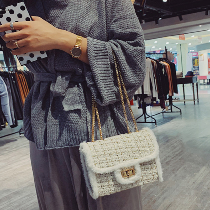 Lovely Casual Patchwork White Messenger