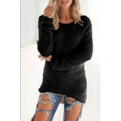 Lovely Euramerican Winter Long Sleeves Black Blend