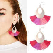 Lovely Chic Fan-shaped Red Alloy Earring
