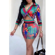 Lovely Euramerican Printed Multicolor Twilled Sati