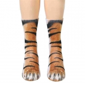Lovely Chic Animal Brown Socks