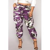 Pantalones De Camuflaje De Moda Color Púrpura