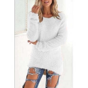 Lovely Euramerican Winter Long Sleeves White Blending Blouses