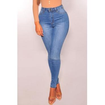 Lovely Casual Skinny Light Blue Denim Jeans