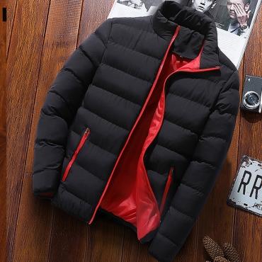 Lovely Euramerican Zipper Design Black Cotton Cottonpadded Clothes