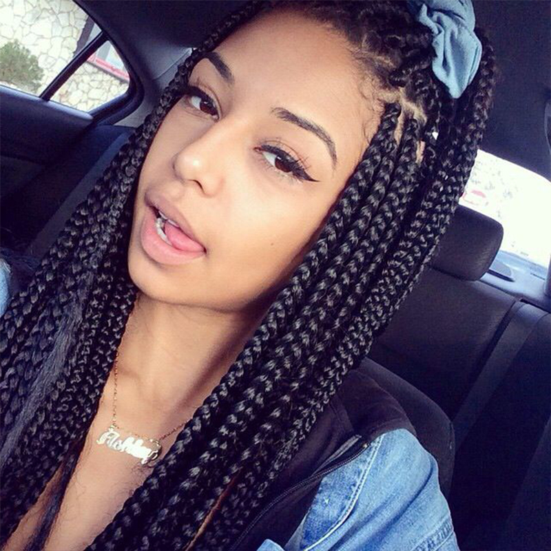 Lovely African Need To Weave Braid Black Braid Wigs