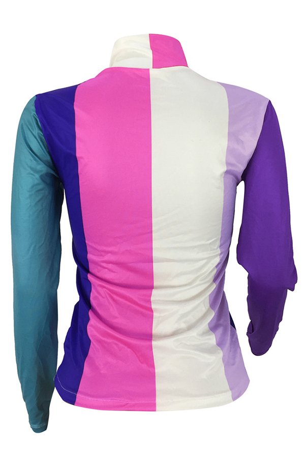Lovely Fashion Striped Patchwork Rose Red Twilled Satin Base Layers