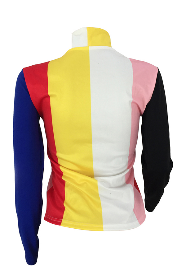 Lovely Fashion Striped Patchwork Twilled Satin Base Layers