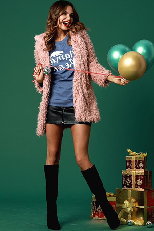 Lovely Fashion Three Quarter Sleeves Pink Coat