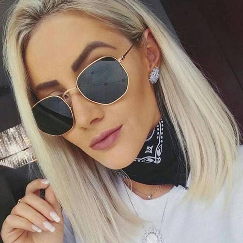 Lovely Fashion Phnom Penh Polygonal Metal Sunglasses