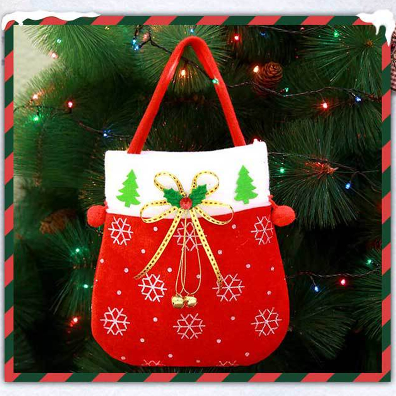 Lovely Fashion Christmas Tree Ornaments Red Storage Bags