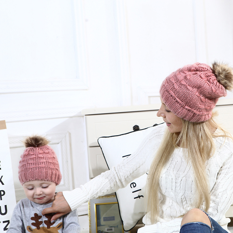 Lovely Fashionable Pink Hats(Parent-child Cap)
