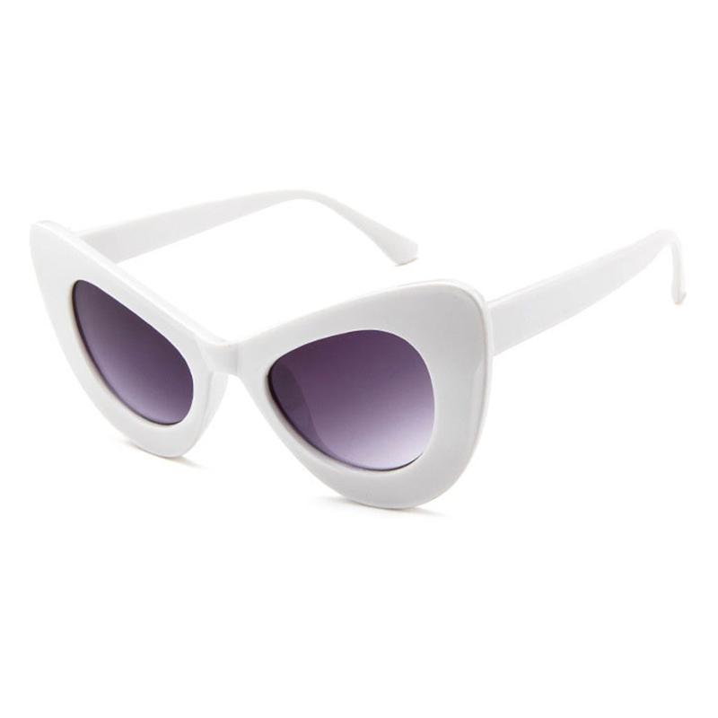 Schöne Schicke Katzenaugenrahmendesign Weiße PC-Sonnenbrille