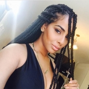Lovely African Need To Weave Braid Black Braid Wig