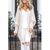 Lovely Fashion Batwing Long Sleeves White Cardigan
