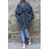 Lovely Casual Grey Sheep Plush Wool