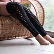 Милые Моды Выдолбленные Коленные Высокие Черные Носки