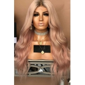 Lovely Fashion Dusty Pink Long Curly Wigs