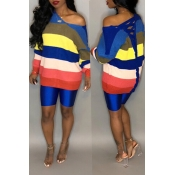 Lovely Casual Multicolor Patchwork Blending Sweate