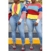 Lovely Personality Multicolor Patchwork Blending S