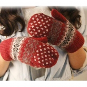 Lovely Casual Christmas Red Gloves