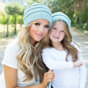 Lovely Fashionable Winter Baby Blue Hats(Parent-ch