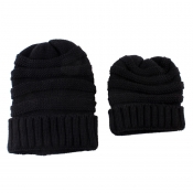Lovely Fashionable Winter Black Hats(Parent-child