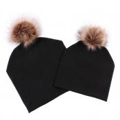 Lovely Casual Winter Black Hats(Parent-child Cap)
