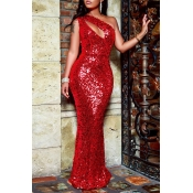 Lovely Elegant Hollowed-out Sequined Floor Length