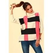 Lovely Casual Turtleneck Rose Red Hoodies