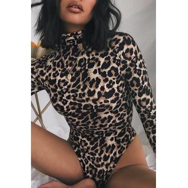 Lovely Sexy Leopard Print Cotton Bodysuit