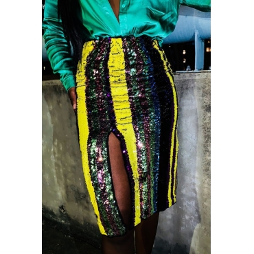 Lovely Sexy Sequined Knee Length A Line Skirts