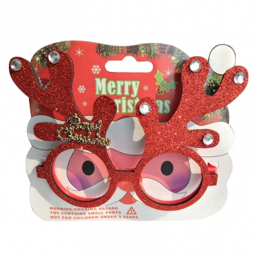 Lovely Fashionable Christmas Elk Red PC Sunglasses