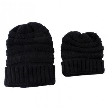 Lovely Fashionable Winter Black Hats(Parent-child Cap)