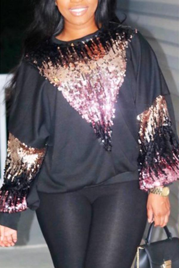 Blusas Negras Del Remiendo Ocasional Encantador