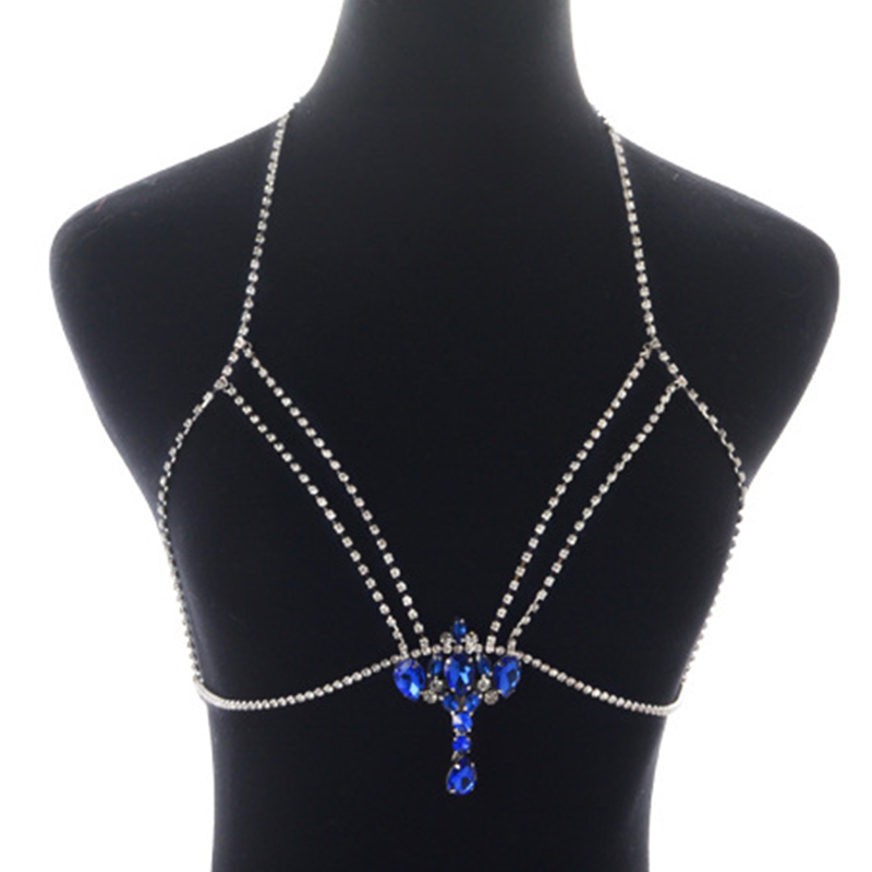 Lovely Sexy Rhinestone Decorative Silver Crystal  Necklace