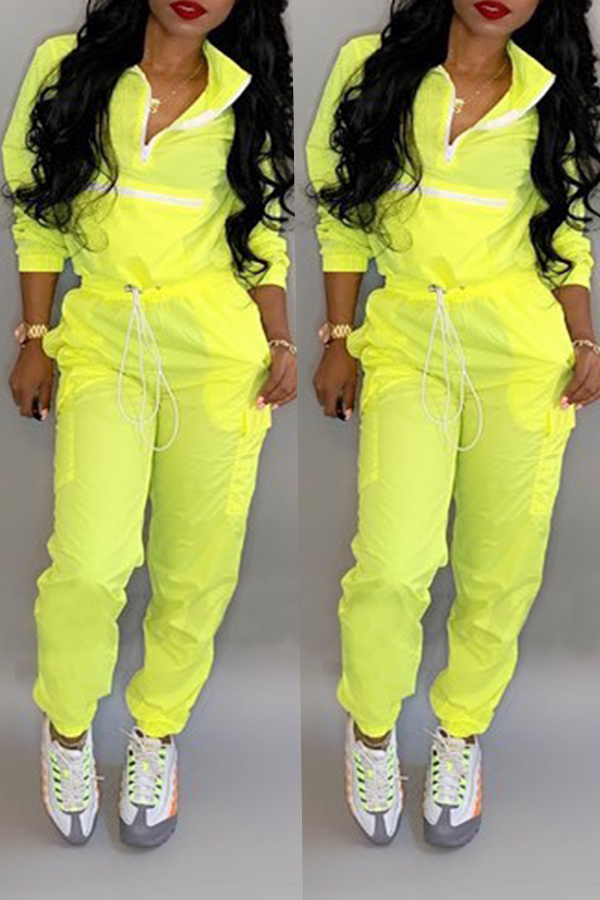 Precioso Conjunto De Pantalones De Dos Piezas De Patchwork Amarillo A La Moda.
