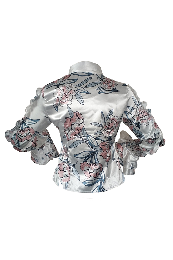 Blusas Blancas Con Diseño De Volantes Elegantes