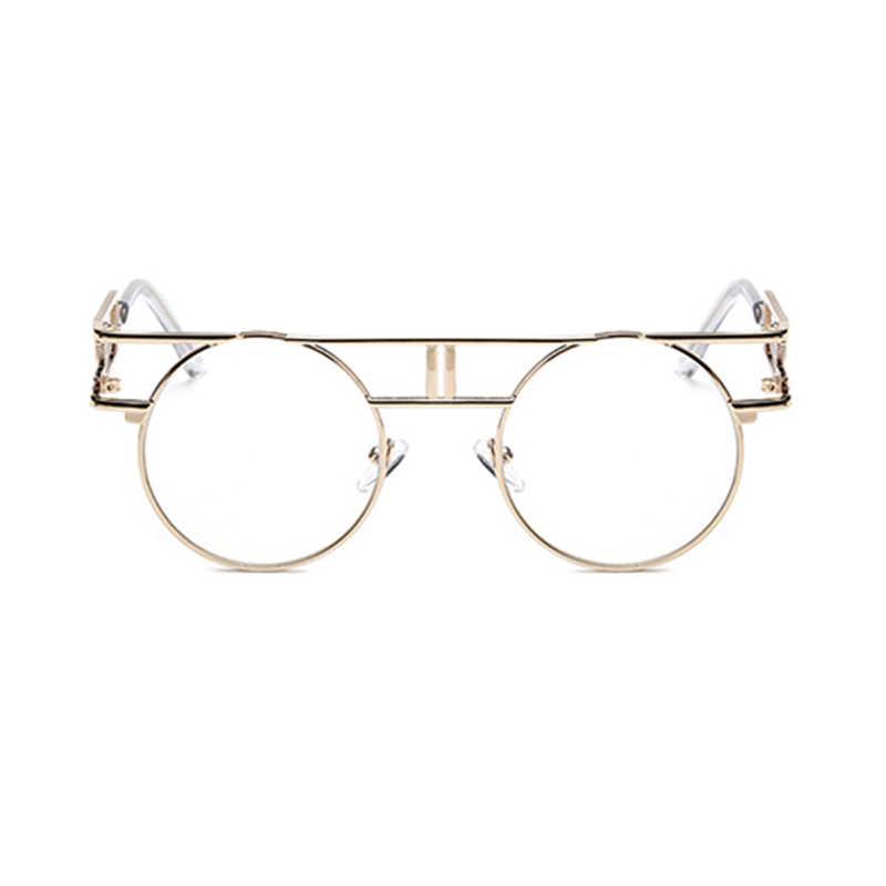 Lovely Stylish Hollow-out Gold Metal Sunglasses