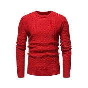 Lovely Casual Long Sleeves Red Cotton Sweaters