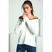 Lovely Trendy Parchwork White Cotton Sweaters