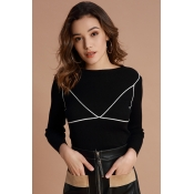 Lovely Casual Long Sleeves Black Sweaters