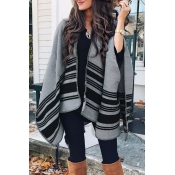 Lovely Casual Patchwork Grey Cardigan Sweaters
