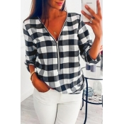Lovely Trendy Grids Printed White Shirts